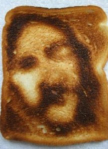 image / likeness / jesus face on a piece of toast item sold on ebay no date available web grab no fee