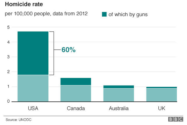 USA and other homicide rates
