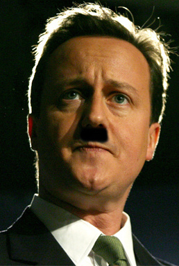 Cameron as Hitler