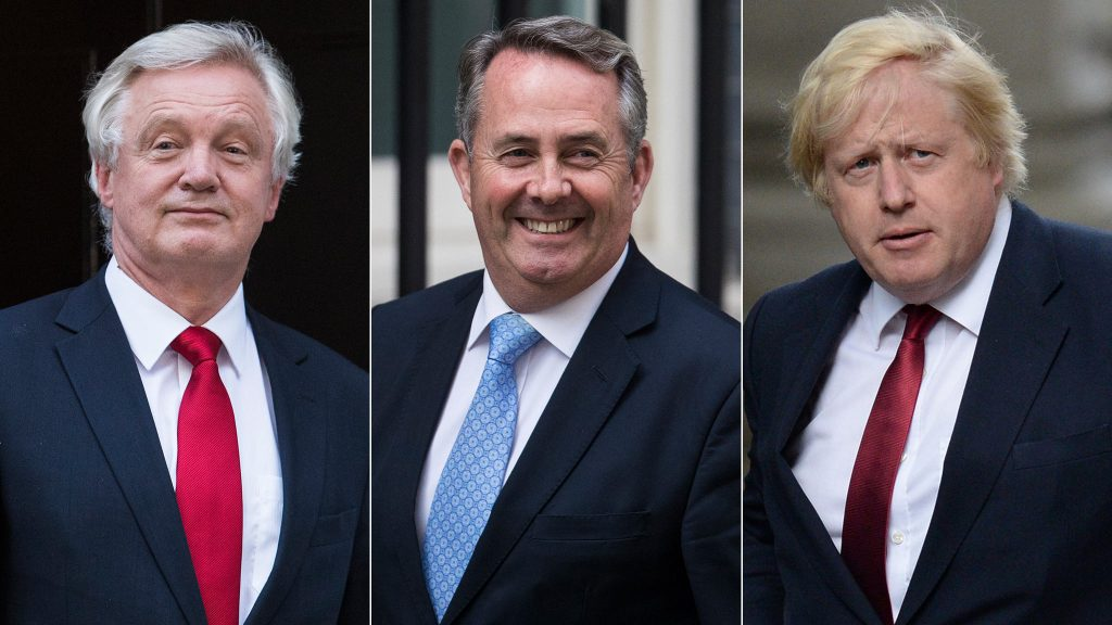 David Davies, Liam Fox, Boris Johnson