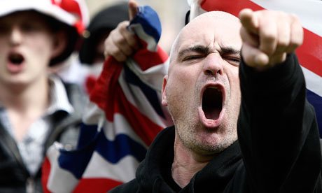English defence league demonstrators