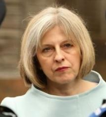 Theresa May stubborn look