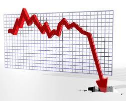 financial crash graph