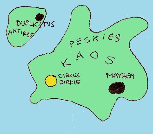 Map of Kaos and Antikos