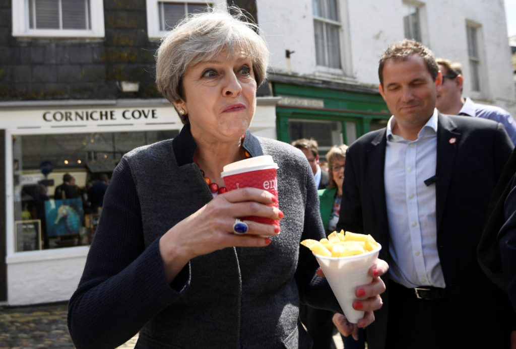 Theresa May coffee