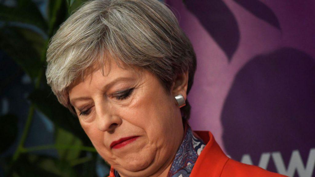Theresa May contrite