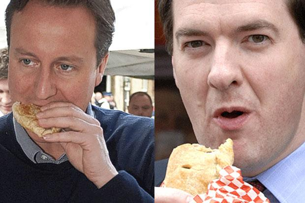 Cameron and Osborne eat pasties