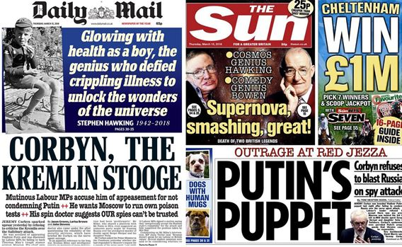 Mail and Sun headlines