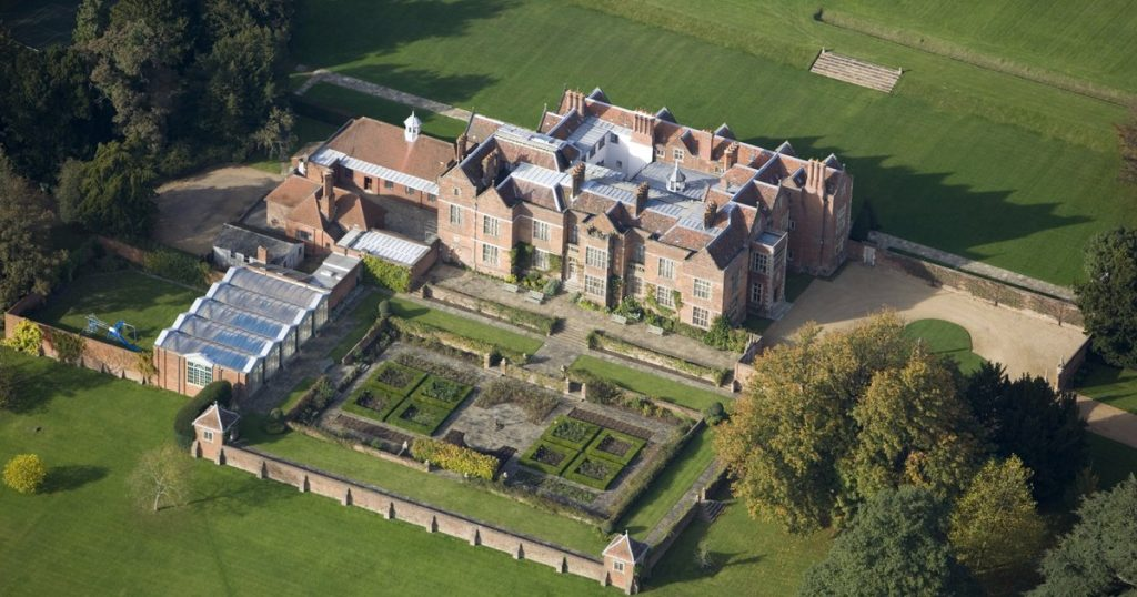 chequers aerial view