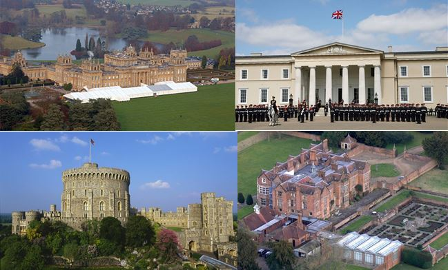 Blenheim, Sandhurst, Windsor, Chequers