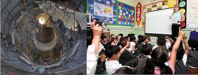 silo and classroom